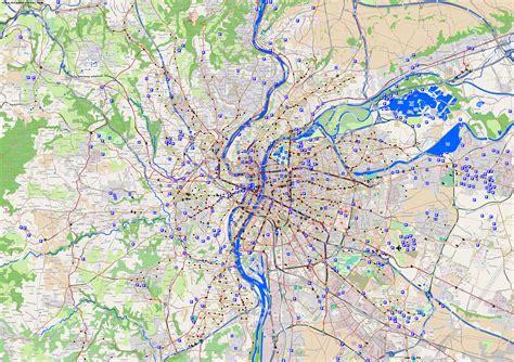 lyon on a map city maps lyon