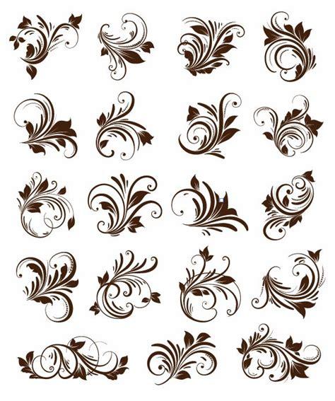 floral ornament element vector graphics cdr file