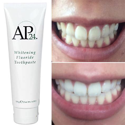 New A P 24 Whitening Toothpaste Pasta Gigi Pemutih Gigi adverts nu skin ap24 whitening fluoride toothpaste