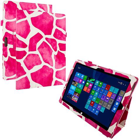 Flip Cover Tab Advan E1c Pro pink giraffe flip folio pouch cover for microsoft