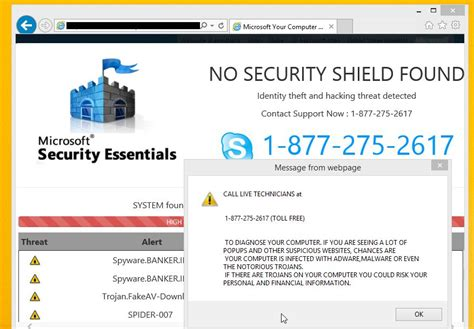 blogger support remove quot system at risk quot pop up virus tech support scam