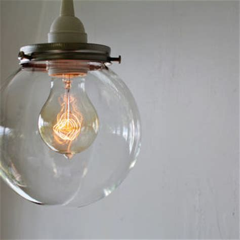 Clear Glass Globes For Light Fixtures Hanging Pendant L With From Boots N Gus On Etsy