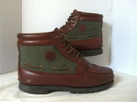 timberland brown green leather tex chukka boots size