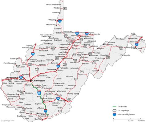 map of wv map of west virginia cities west virginia road map