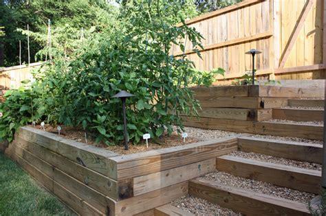 Terraced vegetable garden   Traditional   Landscape