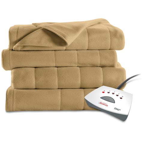 Sunbeam Therapedic Heated Blanket by Sunbeam Electric Heated Fleece Blanket Walmart