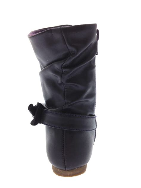 Faux Leather Mid Calf Boots mid calf boots warm winter slouch faux leather