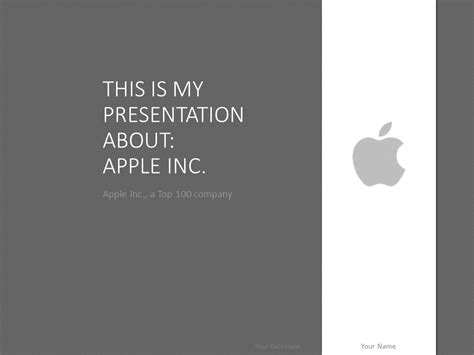 apple inc powerpoint template apple powerpoint template grey presentationgo