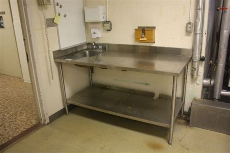stainless table with sink stainless steel wash prep table with sink