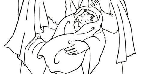 preschool coloring pages of baby jesus simeon en anna kerst kleurplaten voor kleuters nativiy