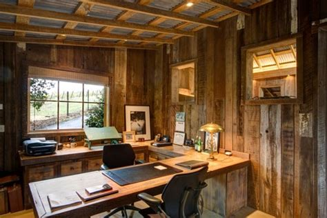 rustic home office rebuilt barn with studio home office dining space
