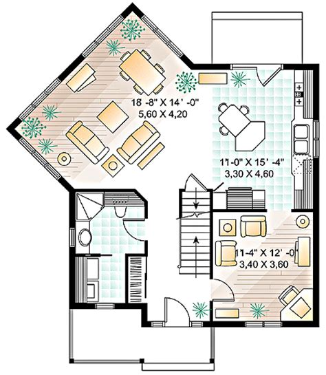 four square floor plan four square house plan with a twist 21100dr
