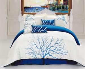 Nautical Bedding Sets Blue Coral Bedding Set Nautical Snob