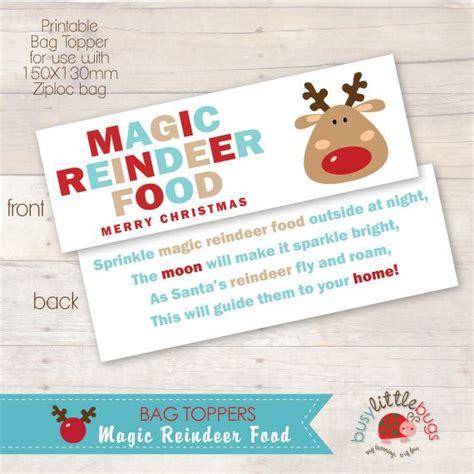 reindeer bag printable magic reindeer food multi bag toppers pinterest