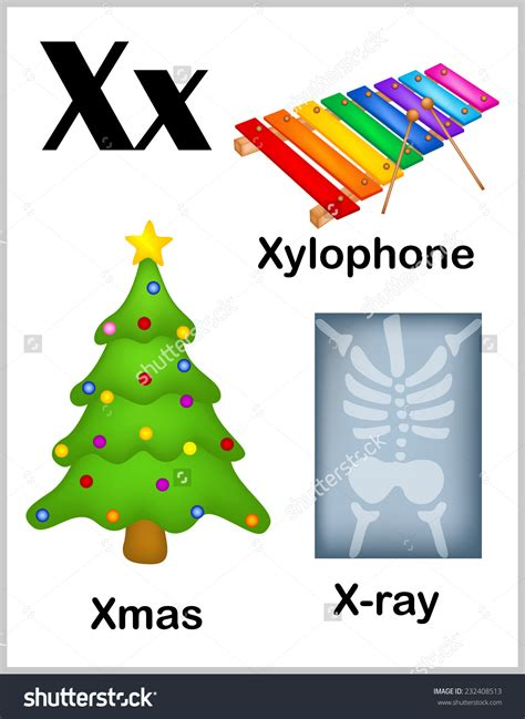 5 Letter Words Starting X x word clipart 31