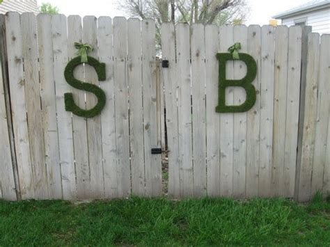 Fence Letter fence letters wedding stuff rustic