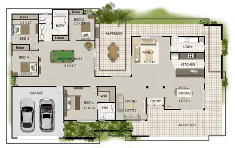 block home plans new acreage house plans australian corner block house