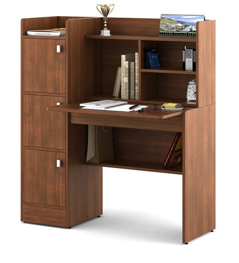 Buy Winner Study Table in Rigato Walnut Finish by Spacewood Online Modern Study & Laptop
