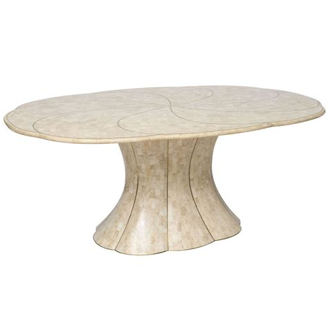 maitland smith tessellated stone dining table with brass