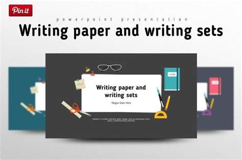 flat lined paper template for powerpoint slidemodel