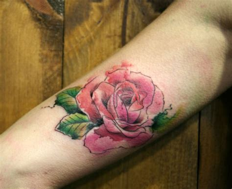 water color rose tattoos 99 artistic watercolor tattoos that are living works of