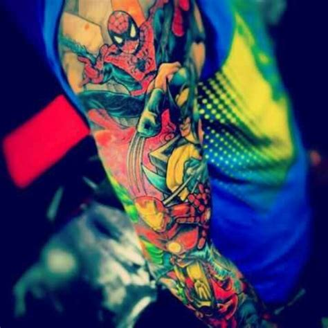marvel sleeve tattoo designs marvel sleeve ideas