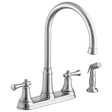 kitchen faucet with side spray american standard portsmouth 2 handle high arc kitchen