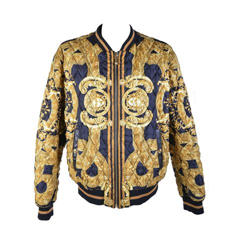 Jacket Ver Sace 35th anniversary versace quilted silk bomber jacket for