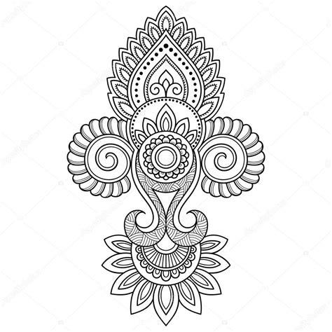 henna tattoo muster mehndi muster mehndi henna abstrakt runder muster with