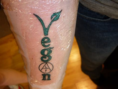 vegan tattoo from beef to leaf i finally got that vegan