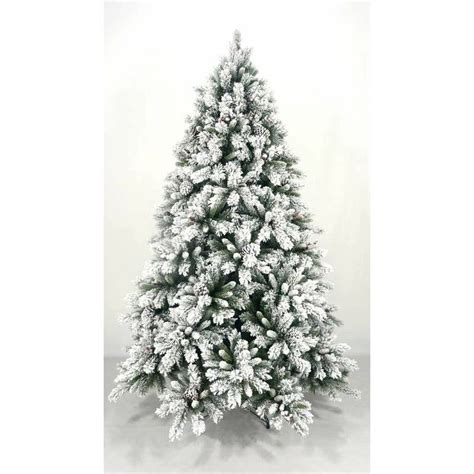 White Frosted Tree - 2 4m pvc tree with snow frosted tree