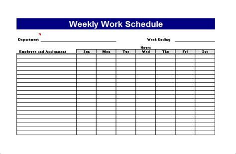 Weekly Work Plan Template Excel work plan template 12 free word pdf documents