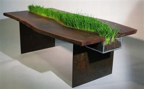 Planter Table wooden table with planter integration iroonie