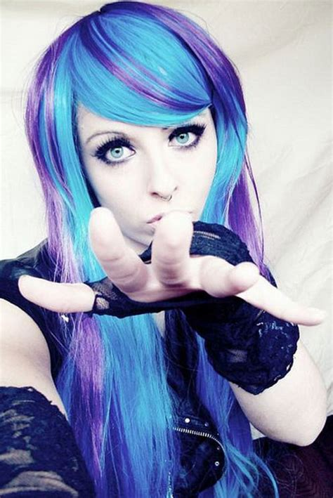 new dyed hairstyles latest dye shaded new emo girls hairstyle ideas