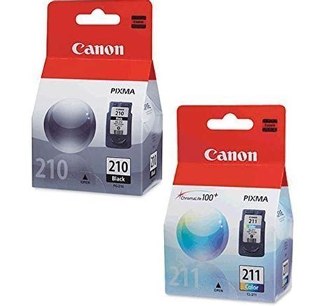 reset mp250 ink cartridge canon pg 210 black cl 211 color ink cartridge set for