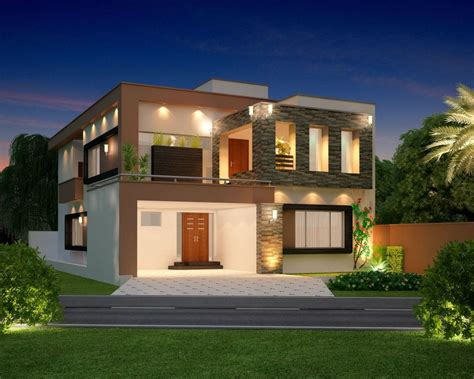 home design business 10 marla modern home design 3d front elevation lahore