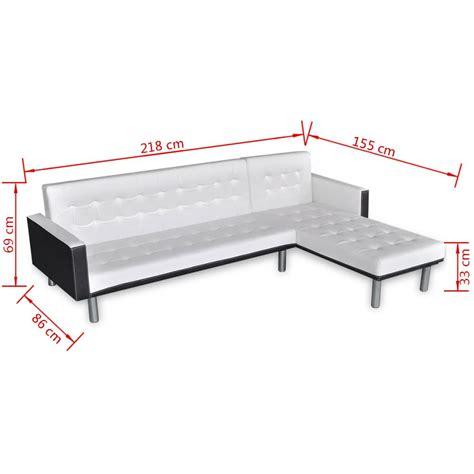 divani a l vidaxl divano letto a l in finta pelle bianco vidaxl it