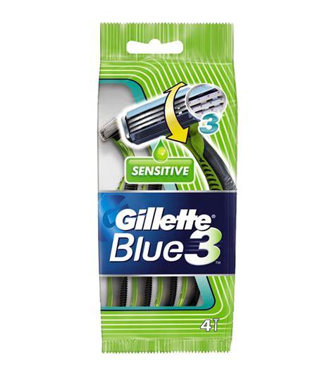 Gillette Blue3 Sensitive Isi 2 4 lamette tre lame gillette blue 3 sensitive usa e getta vendita on line profumi