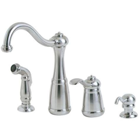 kitchen faucet with sprayer and soap dispenser pfister marielle single handle side sprayer kitchen faucet