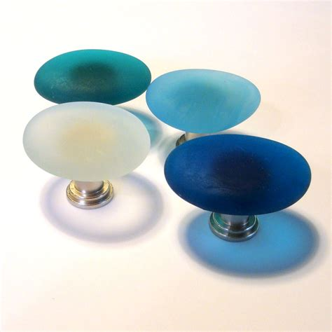 Sea Glass Cabinet Knobs by Glass Cabinet Knob Drawer Pull 12 12 Freeform