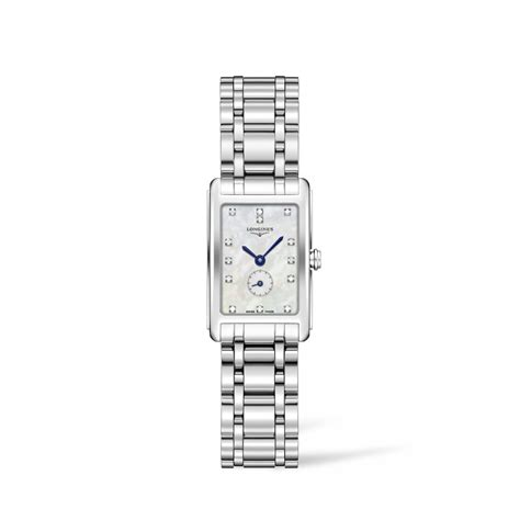 Longines DolceVita ladies' diamond dot mother of pearl dial stainless steel bracelet watch