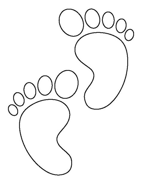 baby feet pattern use the printable outline for crafts