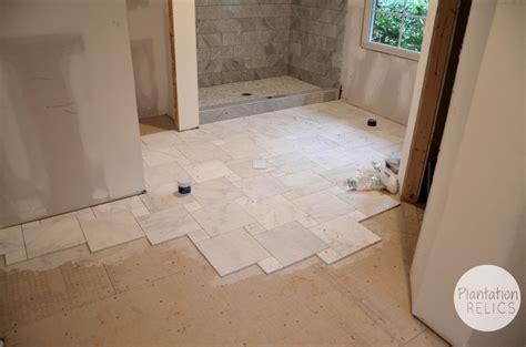 Honed Marble Bathroom by Carrara Marble Master Bath Flip House Update