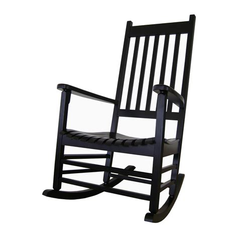 Outdoor Patio Rocking Chairs Shop International Concepts Black Wood Slat Seat Outdoor Rocking Chair At Lowes