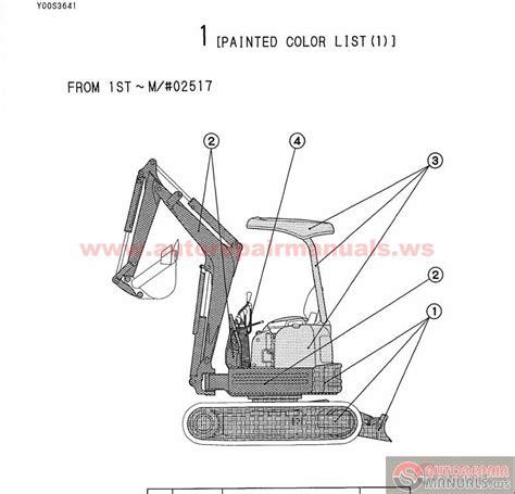 Yanmar Crawler Backhoe Model Vio 15 For Europe Parts