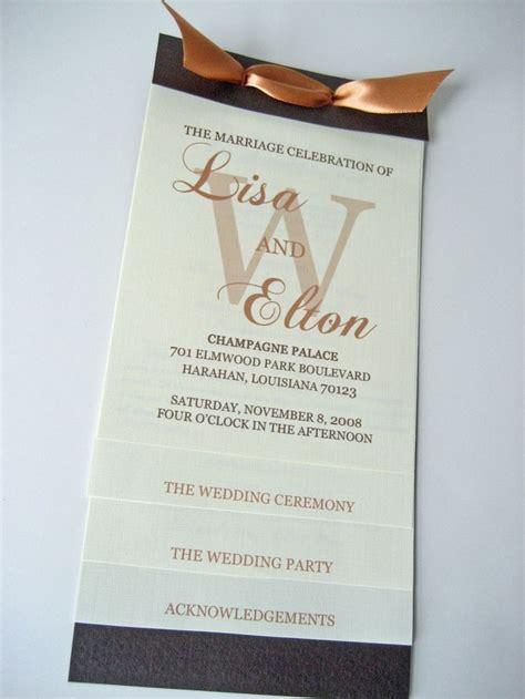 layered wedding programs templates best 25 wedding program sles ideas on wedding programme ideas reception