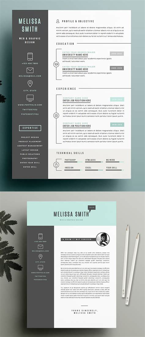 Clean Creative Resume Templates by New Simple Clean Cv Resume Templates Design Graphic