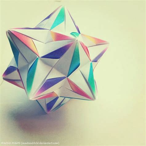 What Is Modular Origami - modular origami radianta by madsoulchild on deviantart