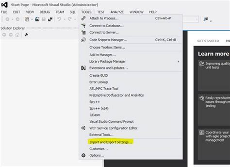 reset user settings visual studio 2012 k g sreeju change default language settings in visual