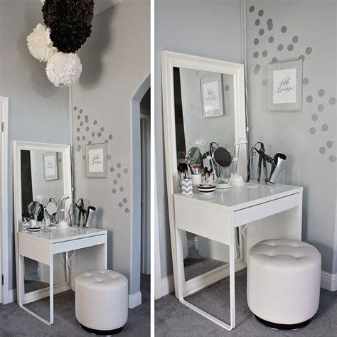 vanity area in bedroom love lace hello beautiful my ikea dressing area